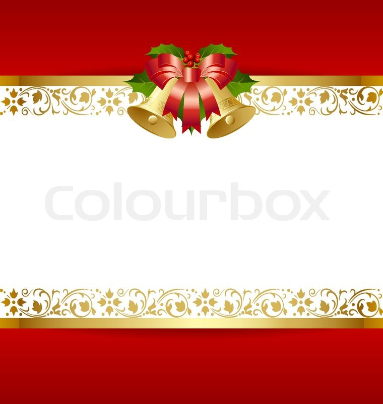 Stylized Christmas card template with Stock Vector Colourbox