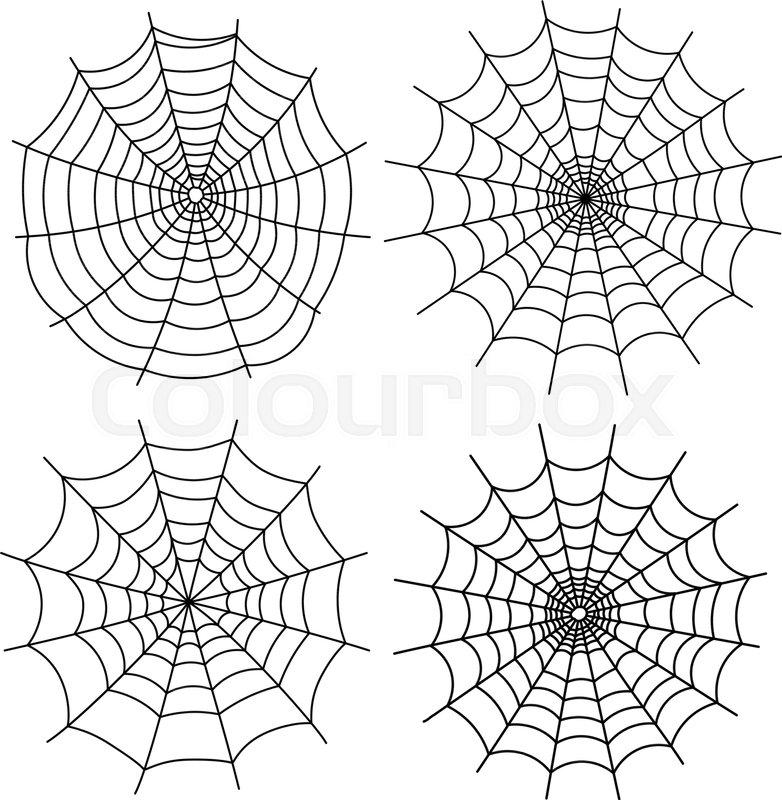 Black halloween spiderweb templates Stock Vector Colourbox