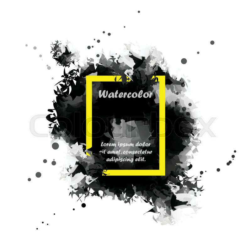 Abstract Black watercolor background Stock Vector Colourbox