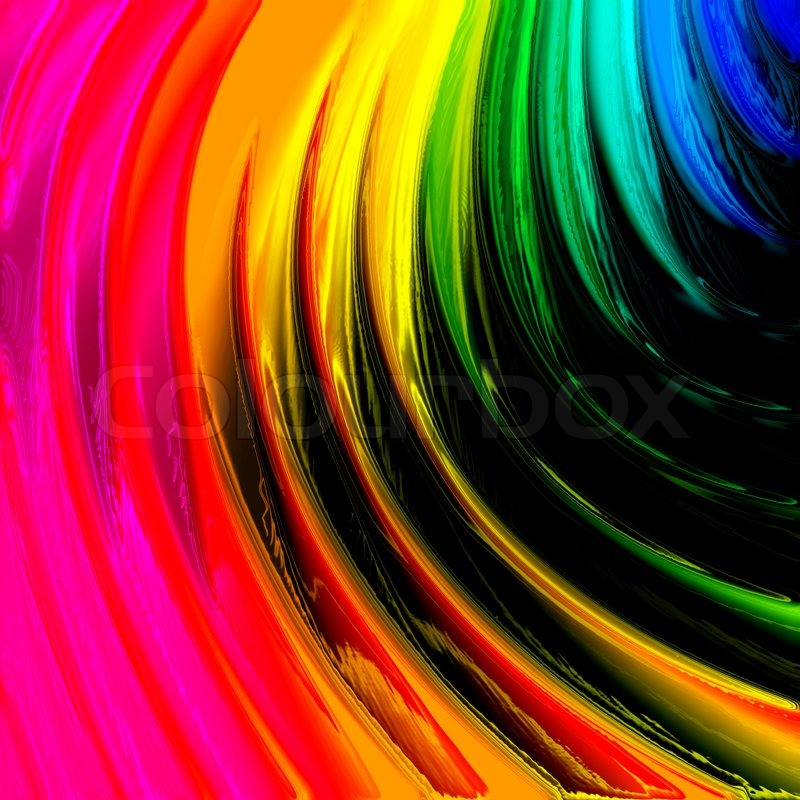 Nice And Cute Wallpaper Abstract Color Rainbow Background Stock Photo