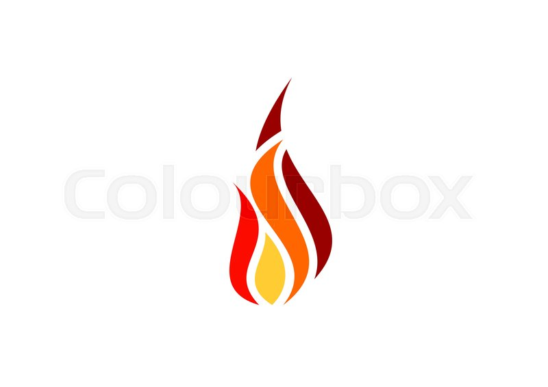 Fire, flame, logo, red hot fire symbol icon design vector, modern - flame logo