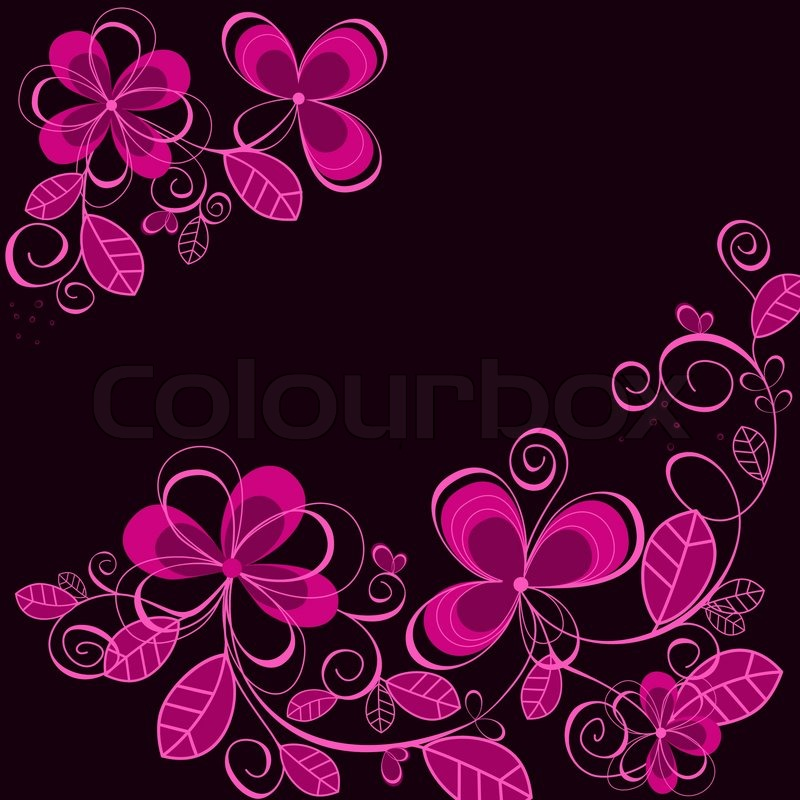 Purple floral background for textile Stock Vector Colourbox