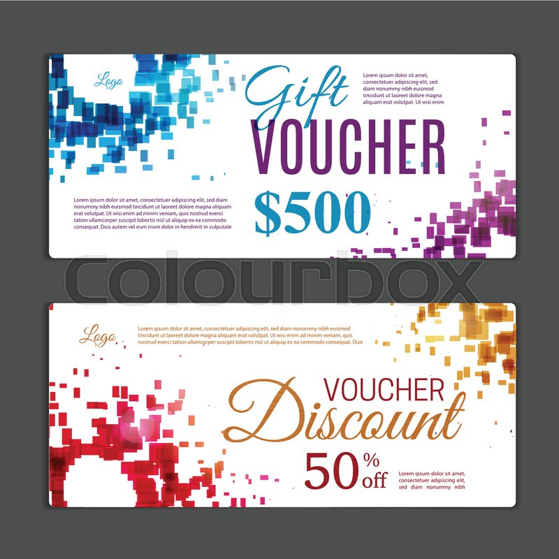 Gift voucher template Can be use for shopping cards, discount