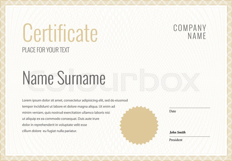 Certificate Template diploma currency border Award background Gift - Award Paper Template