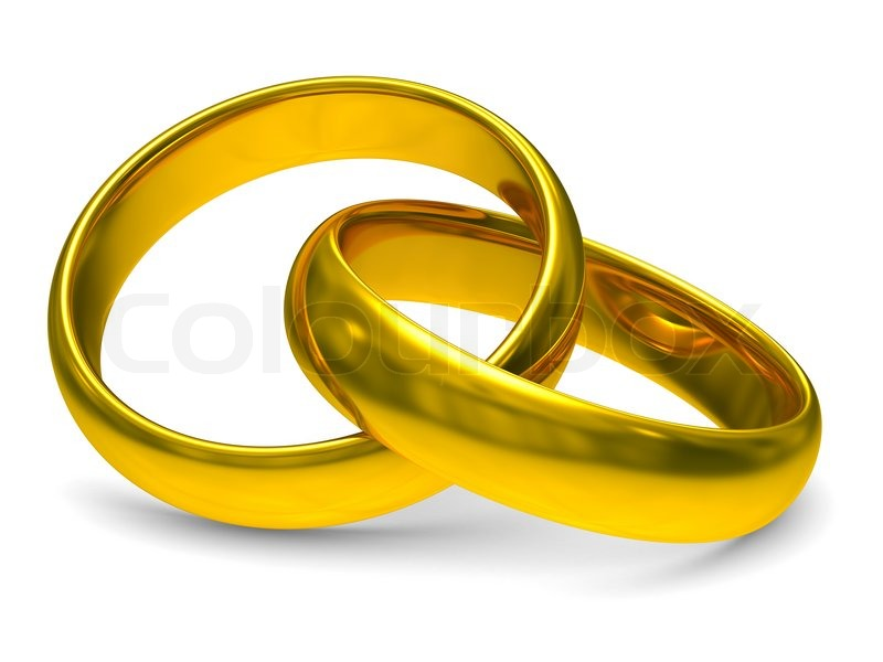Ring Box Verlobung Golden, Jahrestag, Ehepartner | Stockfoto | Colourbox