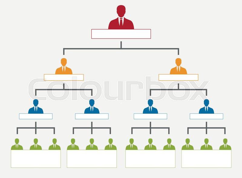 Corporate organization hierarchy, company personal chart tree