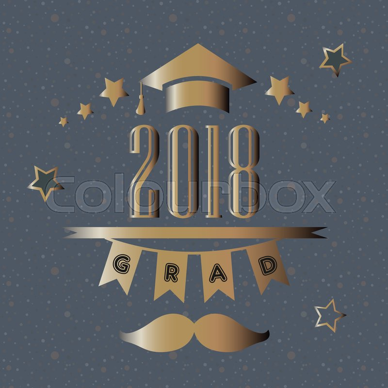 Graduation Class of 2018 Stylized Retro Card Congratulations