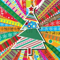 Scrapbook christmas patterns greeting card for design