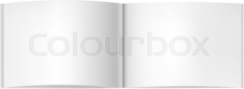 Vector realistic two-pages opened book, journal or magazine mockup - opened book