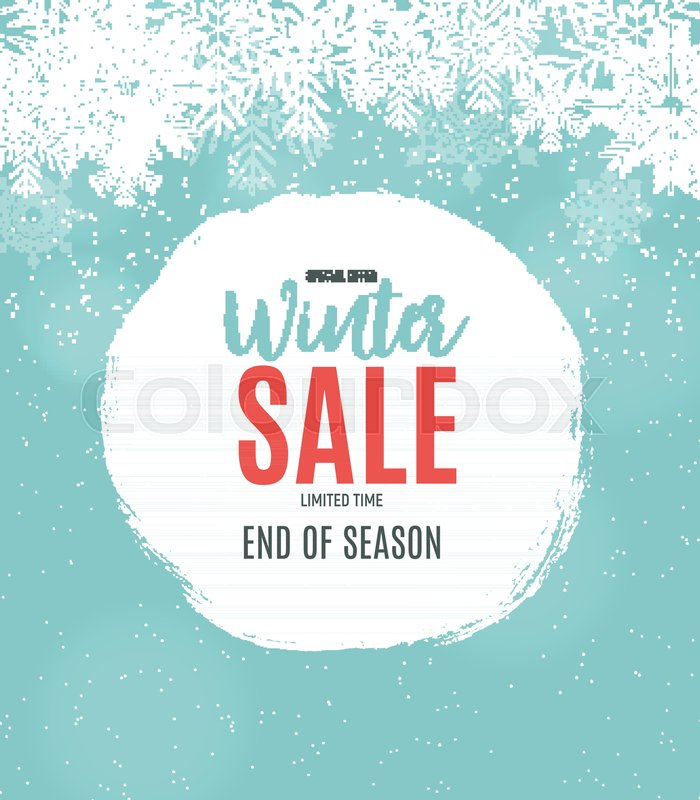 End of Winter Sale Background, Stock Vector Colourbox