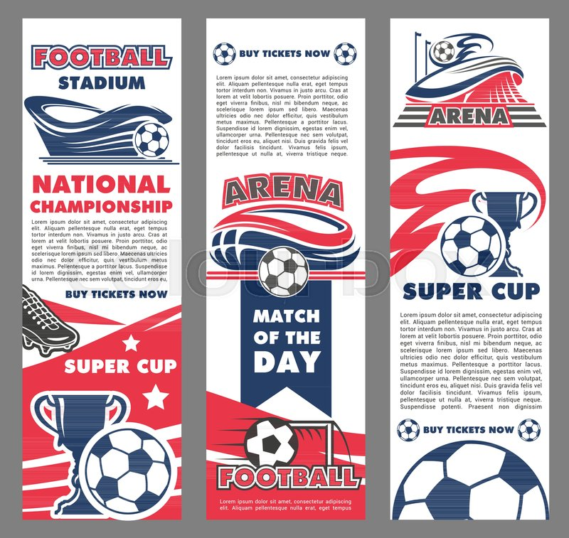 Football sport match banner of soccer championship tournament