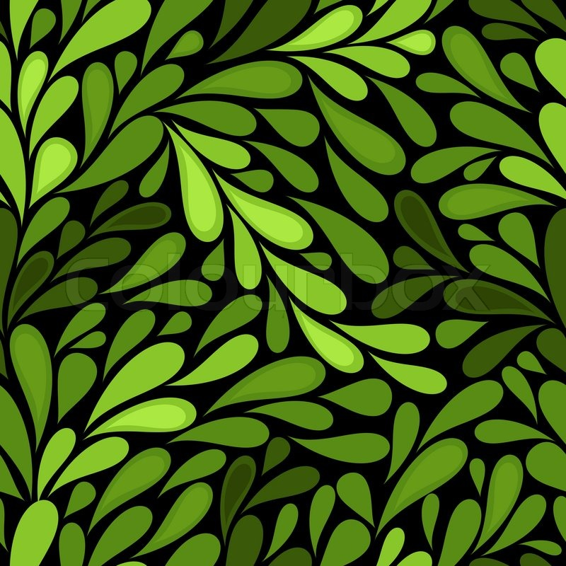 Fall Wallpaper Animal Crossing New Leaf Dark Seamless Pattern With Green Leaves Vector Stock
