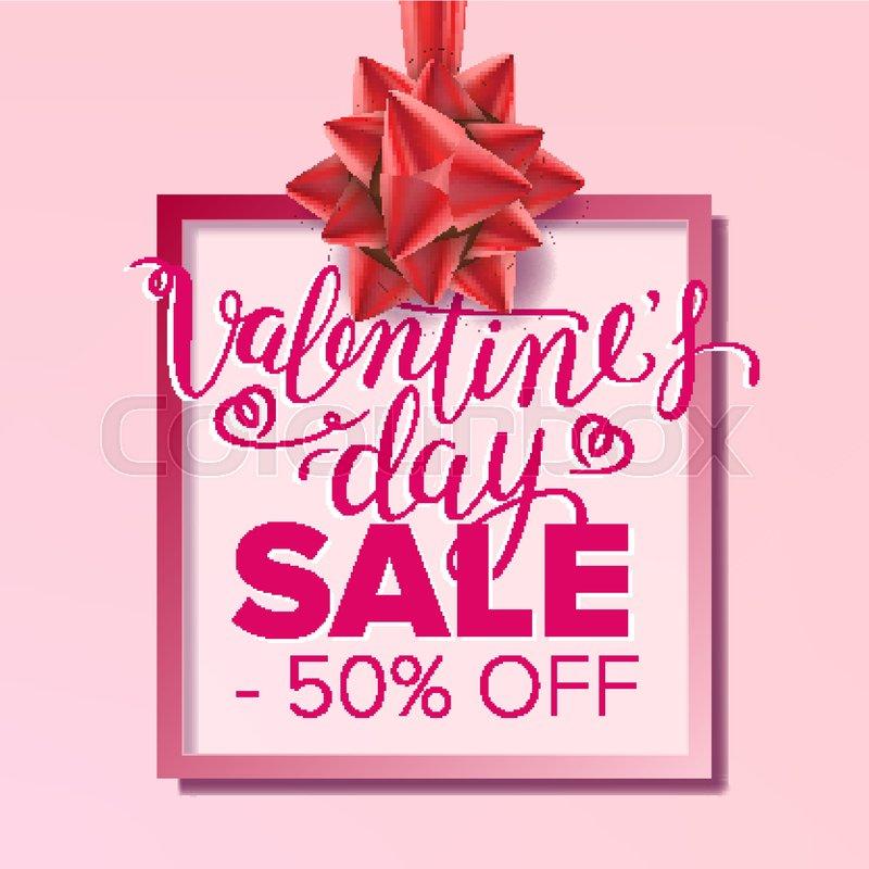 Valentine s Day Sale Banner Vector February 14 Sale Poster - sale poster design