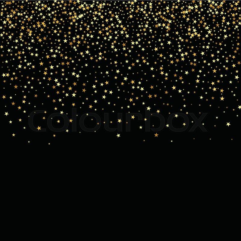 Falling Glitter Confetti Wallpapers Beautiful Gold Stars Fall Gold Glitter Stock Vector
