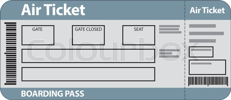 Illustration of air ticket template Stock Vector Colourbox