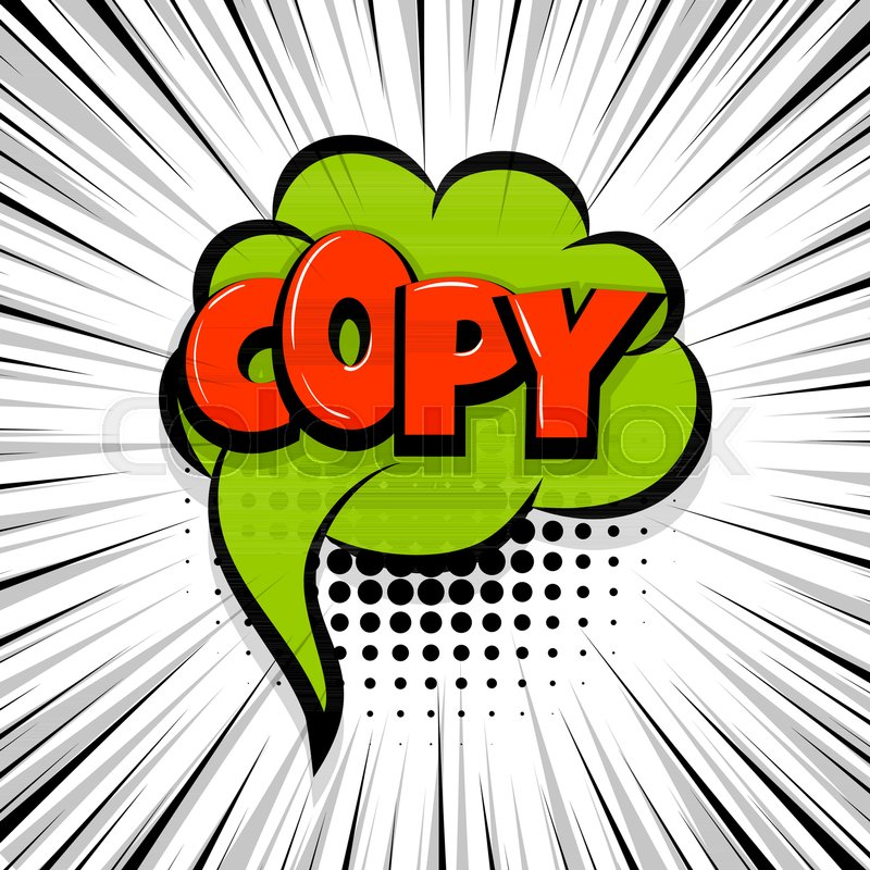 Copy, paste Comic text speech bubble balloon Pop art style wow - cool copy and paste art
