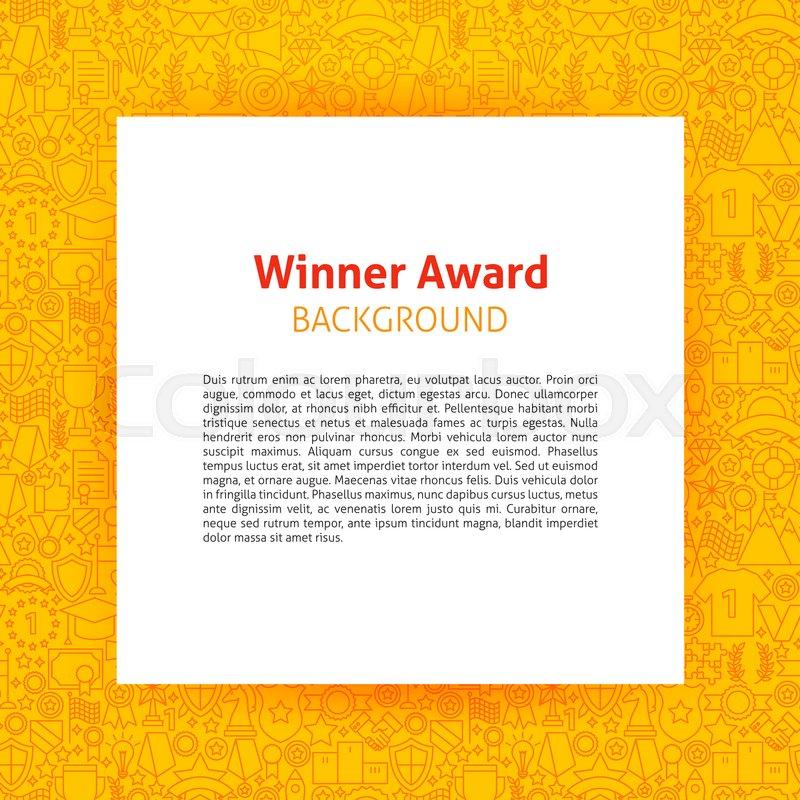 Winner Award Paper Template Vector Illustration of Outline Design