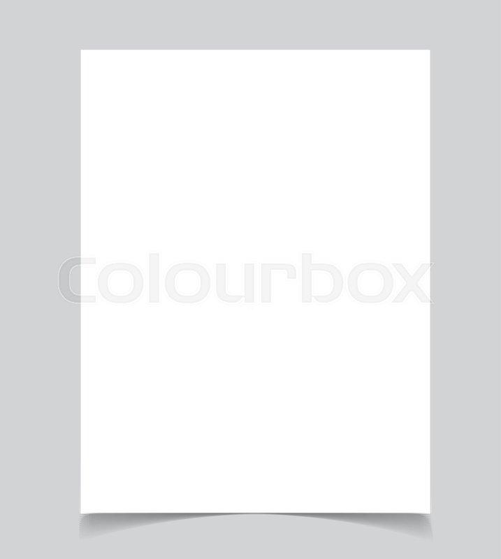 Blank poster bi fold brochure mockup cover template Stock Vector