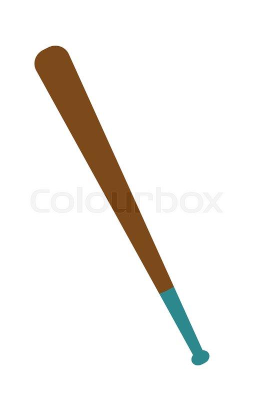 Wooden baseball bat vector cartoon Stock Vector Colourbox
