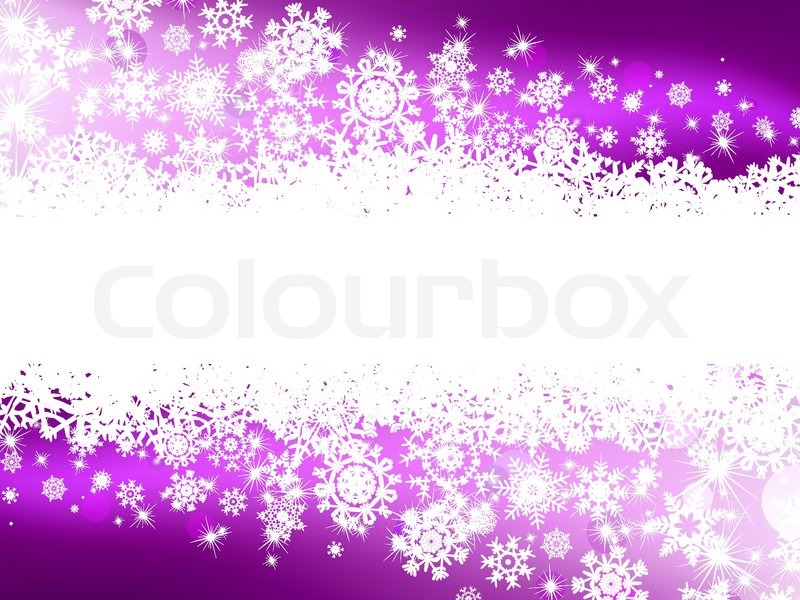 Free Christmas Falling Snow Wallpaper Purple Winter Background Amp Snowflakes Stock Vector