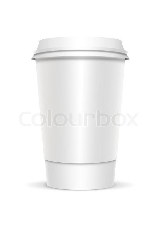 Plastic coffee cup templates over white Stock Photo Colourbox