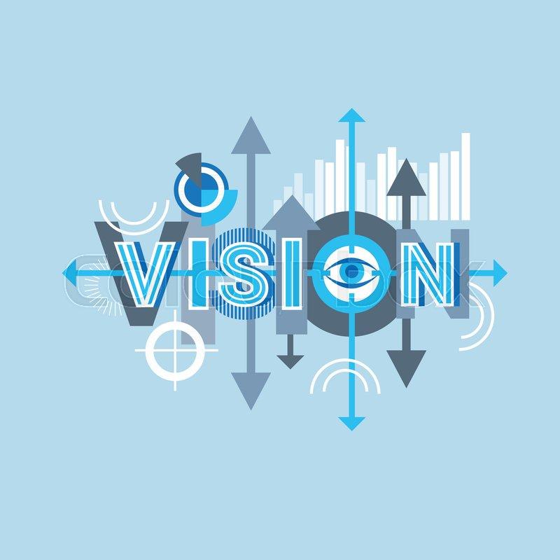 Vision Word Creative Graphic Design Stock Vector Colourbox