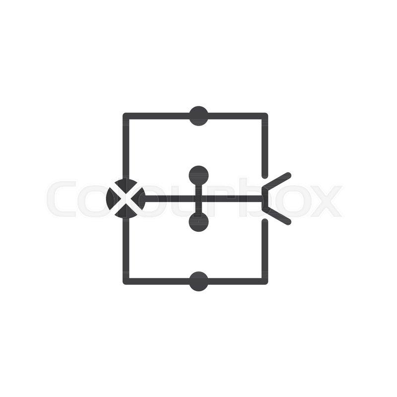 Wiring diagram icon vector, filled Stock Vector Colourbox