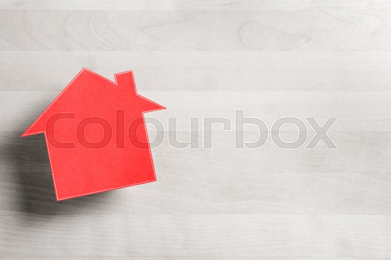 Real estate business House for sale Cottage made from cardboard - house for sale sign template