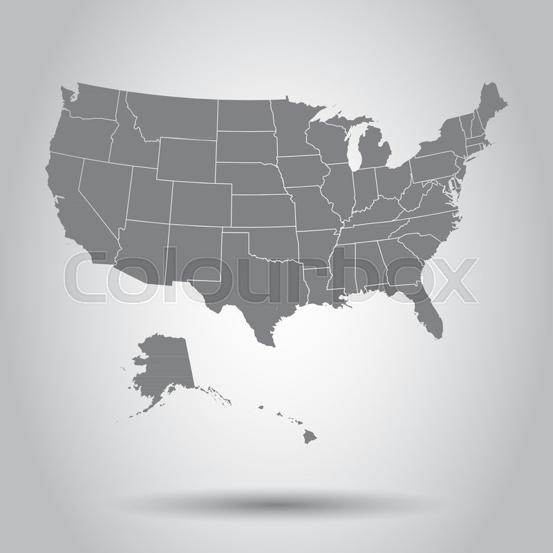 USA map icon Business cartography concept United States of America