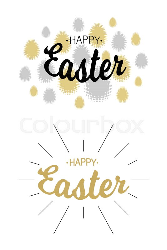 Easter greetings card backgrounds Stock Vector Colourbox