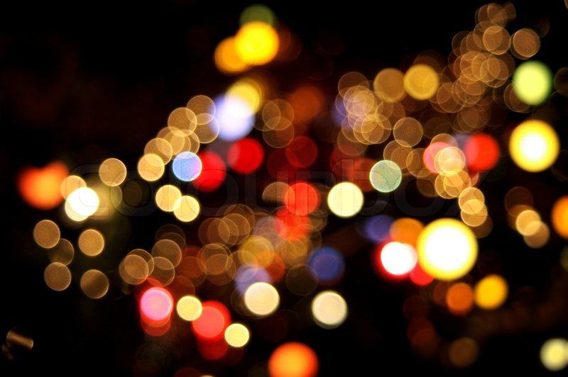 Blur 3d Wallpaper Abstract Circular Bokeh Background Of Christmaslight