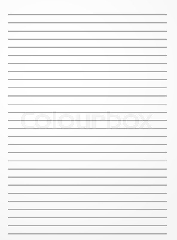 Striped notebook paper Lined Stock Vector Colourbox
