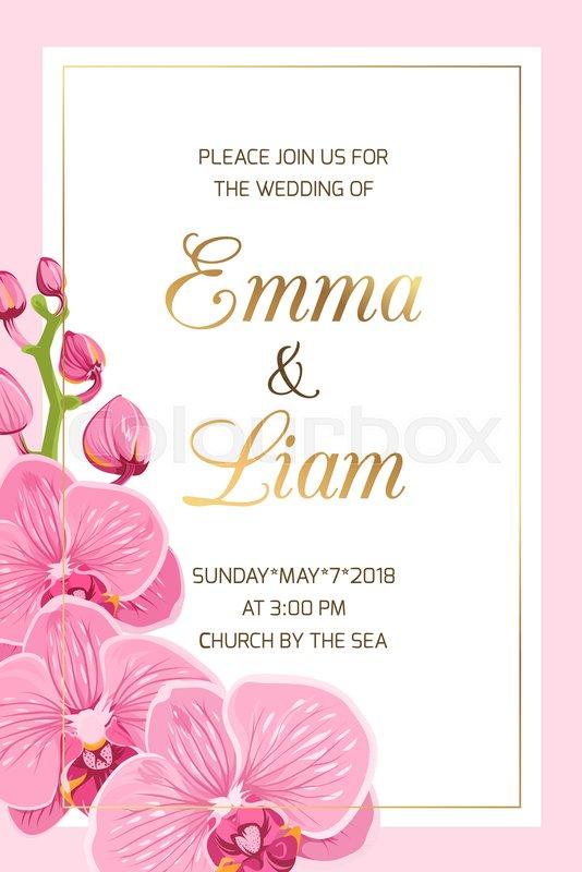 Wedding event invitation card template Stock Vector Colourbox