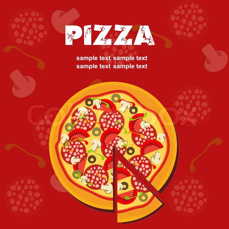 Pizza Menu Template, vector illustration Stock Vector Colourbox - Sample Pizza Menu Template