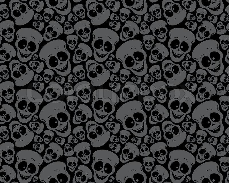 Black Velvet Damask Wallpaper Wallpaper Pattern Funny Skulls Stock Vector Colourbox