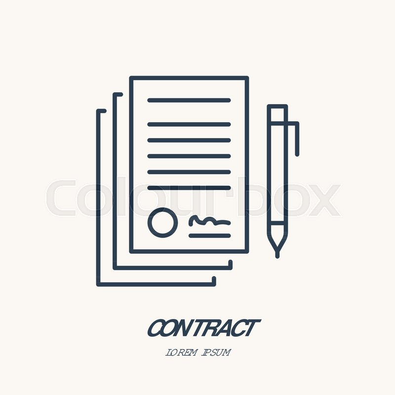 Signing agreement, contract vector Stock Vector Colourbox