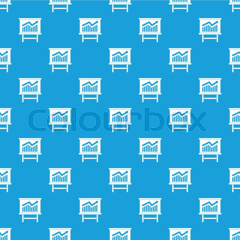 Growing chart on presentation board Stock Vector Colourbox