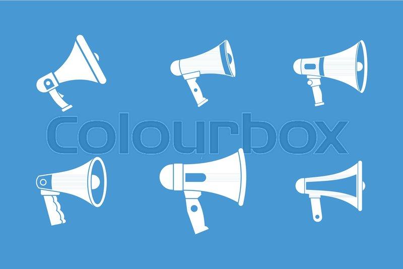 Handspeaker icon set Simple set of handspeaker vector icons for web