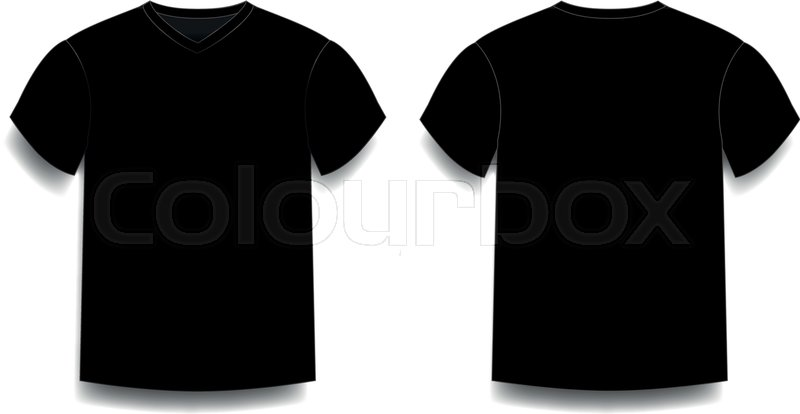 Black men\u0027s t-shirt template v-neck Stock Vector Colourbox