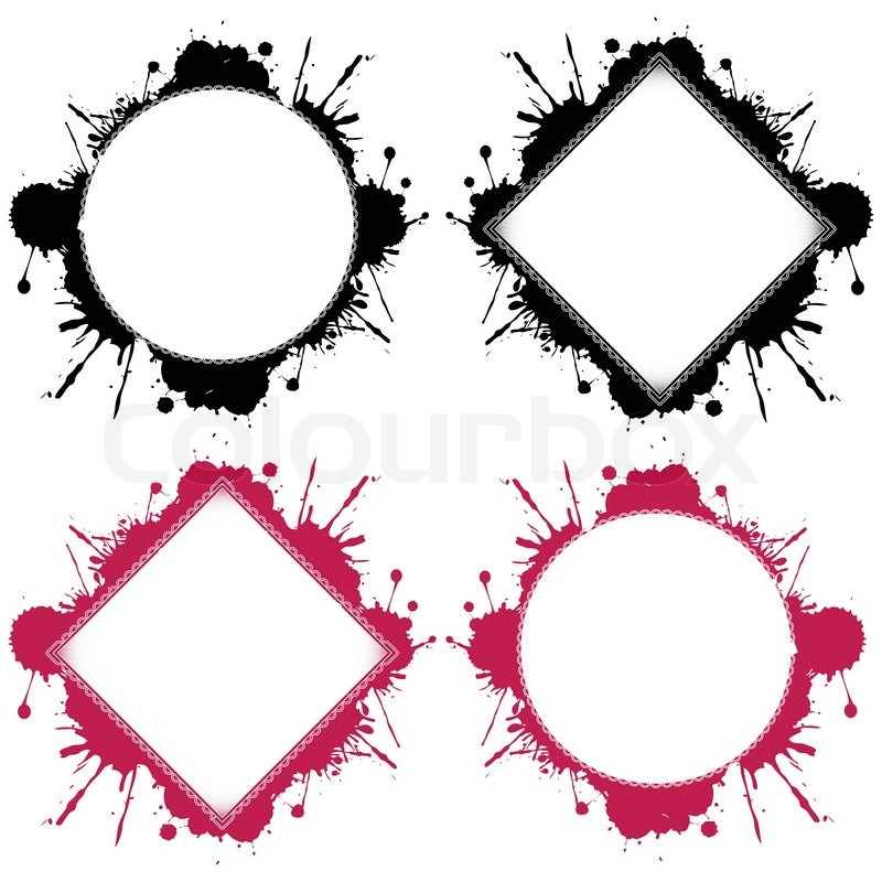 Round and square templates ready for your design over white
