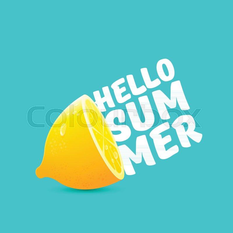 Vector Hello Summer Beach Party Flyer Stock Vector Colourbox