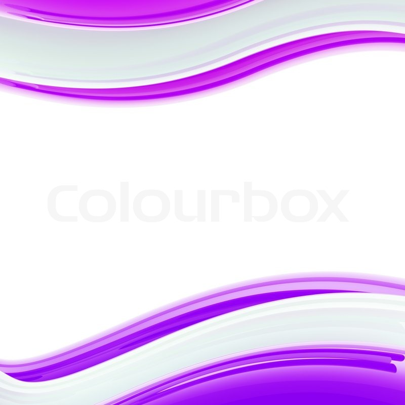 Wavy white and violet glossy bright Stock Photo Colourbox