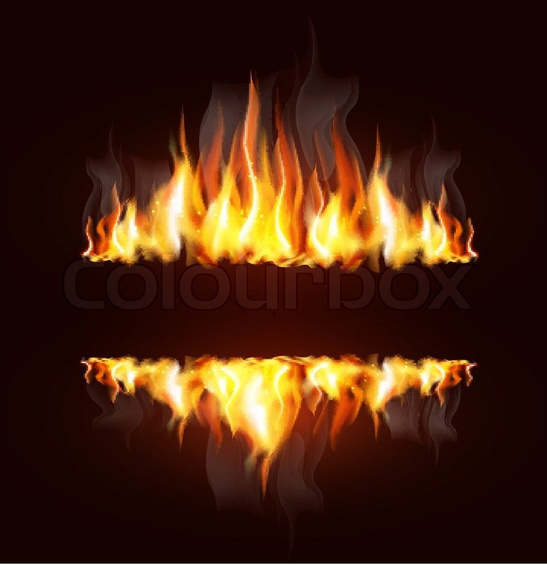 Free Animated Fireplace Wallpaper Vector Background With A Burning Flame And Place For Text