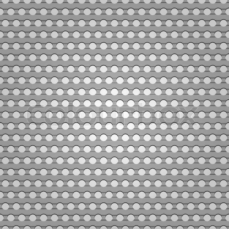 Seamless metal surface, background perforated sheet Stock Vector - composite background