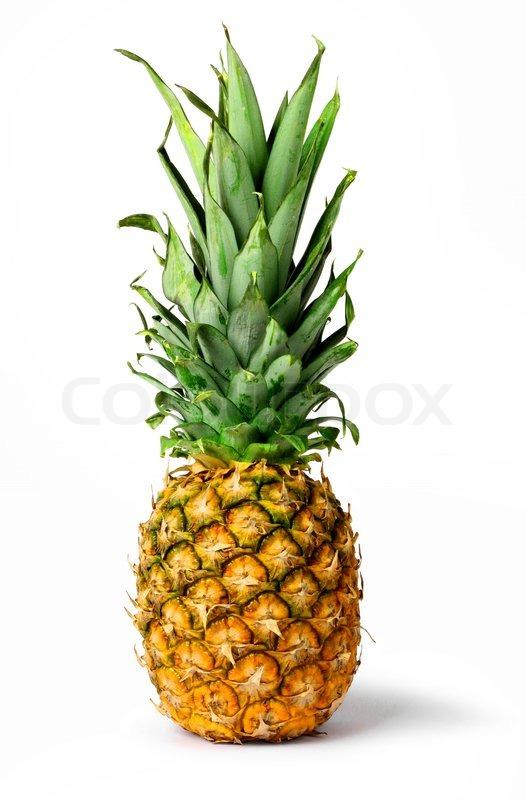 Fresh pineapple fruit isolated Stock Photo Colourbox