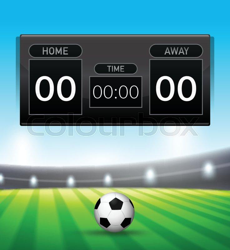 A soccer scoreboard template Stock Vector Colourbox