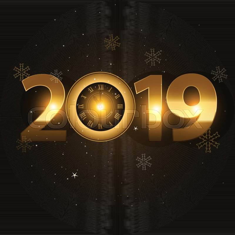 Vector 2019 Happy New Year background Stock Vector Colourbox