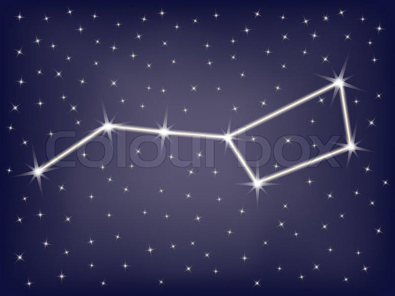 Wallpaper Gravity Falls Iphone Constellation Ursa Major Big Dipper Vector Illustration