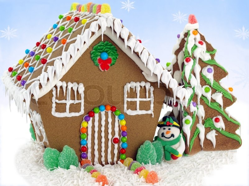 Cute Dental Wallpaper Gingerbread House Gingerbread House And Christmas Tree On