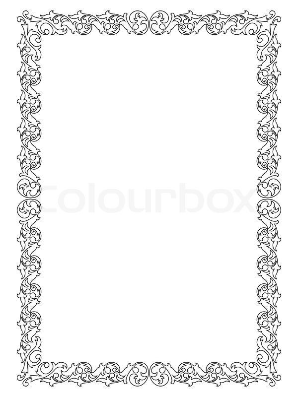 einfachen ornamentalen dekorativen rahmen vektorgrafik